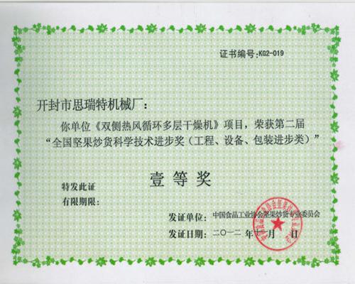 双侧千赢体育官网一等奖